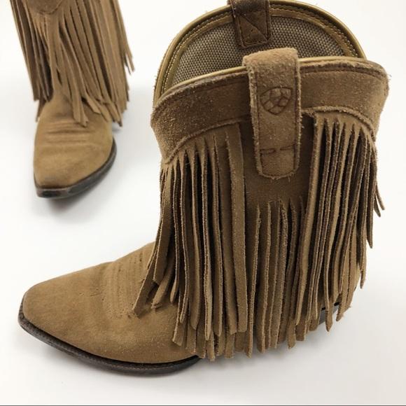 Artist Girls Suede Fringe Cowboy Boots